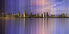 Chromatic Symphony (Lee Sie) Tags: timelapse san sandiego skyline cityscape city water reflection sunset night day bay sd california west coast sky clouds colors lights