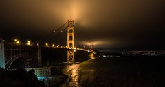 Golden Gate by night, San Francisco (Willmore G.) Tags: night bridge goldengate francisco lowlight sanfrancisco canon canon70d noflash tokina