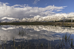 Spanish Peaks (Patty Bauchman) Tags: spanishpeaks moonlightbasin bigskymt lake highaltitudelake reflection landscape nature snow