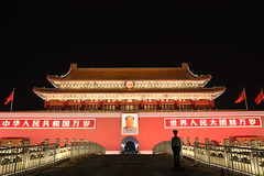 Tiananmen at night in Beijing, China (mbphillips) Tags: tiananmen tiananmensquare   gateofheavenlypeace forbiddencity theforbiddencity    beijing  china   mbphillips