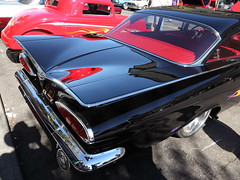 inspired darth (1600 Squirrels) Tags: 1600squirrels photo 5dii lenstagged canon24105f4 classic car automobile show downtownalamedaclassiccarshow parkstreet alameda alamedacounty eastbay sfbayarea nocal california usa gm 1959 chevrolet belair coupe