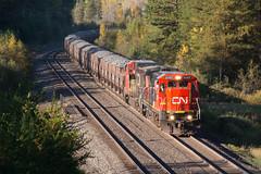 CN2107BridgeIronJunctionMN10-1-16 (railohio) Tags: cn trains ironjunction minnesota j3 011016 c408 ironrange tbird canadiannational ironore