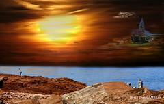 les iles dans le ciel (jean_game) Tags: nature extrieur paysage imaginaire rve iles ciel roches couleurs mer abstraction composite