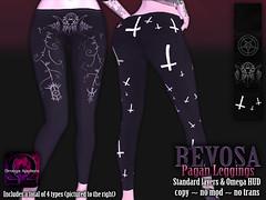 REVOSA Pagan Leggings (merylimperil) Tags: secondlife revosa clothing apparel goth witch pentagram inverted cross black dark leggings legging applier omegaappliers hud pants