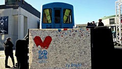 50 ans mtro Montral (3) (Alexander Ly) Tags: stm societe de transport montreal quebec canada metro subway train transit 50ansmtromtl anniversary anniversaire 50e 50th canadian vickers mr63 mr 63 autobus bus art street