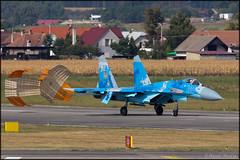 Sukhoi Su-27 (Pavel Vanka) Tags: ciaf czechinternationalairfest lkhk hradeckralove czech czechrepublic airplane plane aircraft airshow spotting spot spotter jet fighter sukhoi su27 su27p flanker ukraine ukrainianairforce