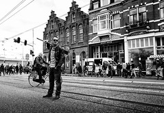 Queensday (Daan L) Tags: city feest urban bw amsterdam digital april gr ricoh ricohgrdigital 020 steet queensday koninginnedag nationalholiday grd 2013 damsco