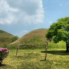 Royal Tombs in Gyeongju, Korea. #gyeongju #royaltombs (hellaOAKLAND) Tags: square squareformat normal iphoneography instagramapp uploaded:by=instagram