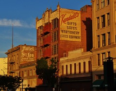 Kendall's & Hotel St. Leo (rickele) Tags: brick downtown gifts fireescape stationery stockton ghostsign kendalls safes officeequipment steveshotel hotelstleo forcefanventilation