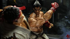 Street Fighter Vs. Tekken (advocatepinoy) Tags: tag collection gaming comicbooks squareenix tekken ryu dioramas shortfilms mishima kazuya toyphotography playarts toycollection acba toyreviews playartskai articulatedcomicbookart advocatepinoy advocate928 pinoytoykolektors