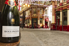 RECESSION....? (mark_rutley) Tags: money london bottle market drink champagne greed bollinger bankers ledenhallmarket