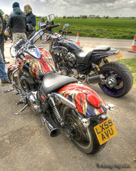 Great paintwork of the Union Flag (Trojan Photography) Tags: art graphicart painting photography artwork graphics paint painted flag motorbike photograph motorcycle unionflag hdr paintjob paintwork handheldhdr hdrnikon