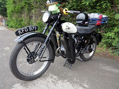 B.S.A Bantam Super (BSMK1SV) Tags: club vintage durham south super run cycle motorcycle motor quaker bsa bantam 2013