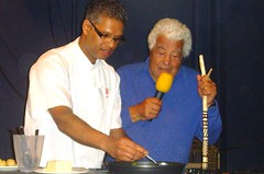 Chef Antonio Carluccio and Prince Charles's personal chef Visen Anenden (Tony Worrall Foto) Tags: show uk england italy food cooking fun demo italian yorkshire north event taste annual venue meet malton greet foodie antoniocarluccio northyorks tvchef 2013tonyworrall visenanenden maltonfoodfestival2013