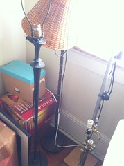 Lamps (yesnonyla) Tags: standing lamps yardsale lampshades