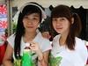 Pokka Girls (yusuf ks) Tags: girls beautiful festival japan booth indonesia tokyo little jakarta nippon matsuri jepang blokm pokka 2013 melawai ennichisai