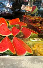 watermelons & strawberries (Robert S. Photography) Tags: fruits strawberries canonpowershot fruitstore watermellons
