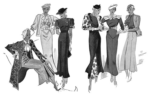 1934 fashion illustrations