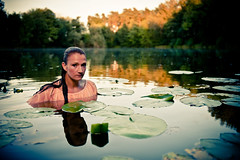 Lady in the Lake (Si Longworth (Army Photographer)) Tags: lake water h2o millie photoessay
