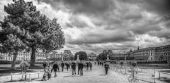 Tuileries (DelCarlo) Tags: paris france blackwhite europa europe ledefrance hdr jardindestuileries
