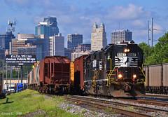 "Eastbound Transfer in Kansas City, MO (""Righteous"" Grant G.) Tags: ns norfolk southern railway railroad locomotive train trains east eastbound transfer freight yard job high hood emd power kansas city missouri"