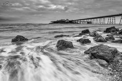Incoming Wash (Chris Sweet Photography) Tags: seascape tide water longexposure le nd filter movement mono pier rocks beach clouds drama flow
