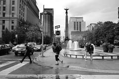 UNIVERSITY AVENUE (posterboy2007) Tags: toronto universityavenue storm rain bw queenstreet southafricanwarmemorial boerwar