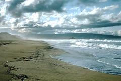 1-1954- Coastline- Redondo Beach CA- (foundslides) Tags: foundslides irmalouisecarter irmalouiserudd kodachrome red border slide film analog pictires pictures pics photos photo picture kodak amateur photgraphy transparencies slidefilm colo color colour photographer johnhrudd