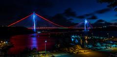 UMT_7738-2 (UmitCukurel) Tags: bridge turkey istanbul bosphorus sony nikon lightroom d750 sonyalpha bogazici kopru night poyrazkoy battleship gemi sky sunset dusk gunbatimi cloud