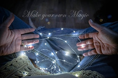 Make Your Own Magic (AngelBeil) Tags: fireflies lights minilights jeans bokeh