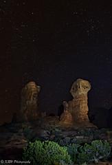 Shining Light on the Garden of Eden (KRHphotos) Tags: utah landscape archesnationalpark nature stars nightphotography paintingwithlight gardenofeden sandstoneformation lightpainting