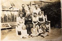 Chapel Lane S 32 1950's Kershaw Family Back Garden Before Sumner Rd Car Park Built 02 (Formby Civic Society) Tags: formby merseyside chapellane kershaw johnkershaw charleskershaw bobewing ewing gertrudekershaw hallroadrailaccident