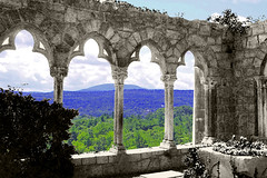Magic Windows (Kris_wl) Tags: archway columns view vista outside outdoors stone ionic old oldcolumns stonecolumns stonearchway mountian valley forest trees green blue sky overlook outlook