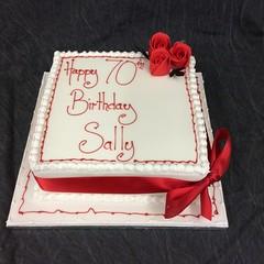 Traditional Square Birthday Cake (victoriabakerybarnet) Tags: hertfordshire barnet spongecake fruitcake sponge birthday birthdaycake traditional