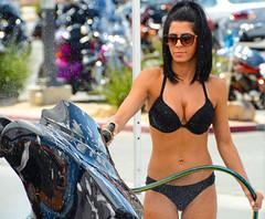 Cycle Wash (jetdragger) Tags: motorcycle outside girl wash bikini harley davidson