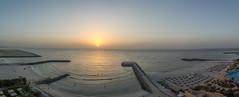 The Sunset III (Emi.R.) Tags: sun summer beach landscape sunset travel gulf sky sea ajman uae ocean shore panorama