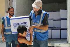 Food relief for children in Aleppo (Ummah Welfare Trust) Tags: syria levant war poverty hunger children middle east        humanitarian humanitarianism islam muslims