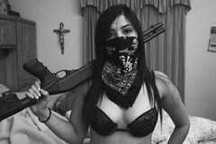GONE GANGSTA! (A Gun & A Girl.) Tags: guns girls muscles arms shootingguns hotguns gunshotwounds blood gettingshot sexygirls hotgirls girlsshootingguns girlsgettingshotwithaguns girlswithguns