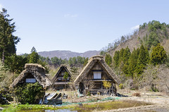 Historic House at Shirakawago Historic Village (Phakorn) Tags: shirakawago gifu village historic shirakawa japan jp outdoor landscape mountainside mountain hill