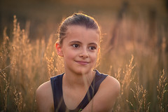 Golden moments in time... EXPLORE (miss.interpretations) Tags: golden hour evening summer fields sunset grass prairie girl daughter memory canon eos m3 85mmf18 backlit highlight sun sunshine yellow gold flowers nature