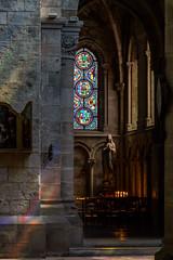 Et priez pour nous... (peterfatson) Tags: pentax k3 1685 wr glise church architecture collgiale notredame chalonsenchampagne vitraux lumire couleurs