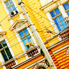 yellow-archi-building-europe-bulgaria-sofia-502-square-sig (Touma) Tags: europe architecture urban color bulgaria bulgarie holiday vacation yellow sofia touma toumay art   building