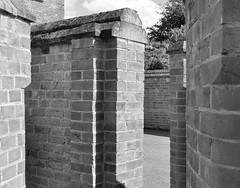 Brick Maze (Maria .... still trying to find my way!) Tags: mono blackandwhite brick wall