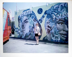 (.tom troutman.) Tags: polaroid land 250 fuji fp 100c instant film ny brooklyn coneyisland mural