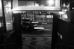 Exit (LucasExMachina) Tags: blackandwhite exit night car city explore light sãopaulo boteco bar