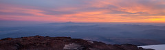South view from Lunch Counter (LucienTj) Tags: haze hazy sunset mounthood mountains rocks hills volcano wilderness clouds