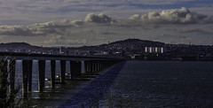 Tay Road Bridge (Brian Travelling) Tags: dundee tay rivertay taybridge bridge roadbridge pillars uprights water sky clouds cloud river scotland fife pentaxkr pentax pentaxdal span navigationchannel newportontay