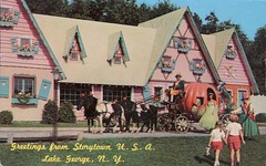 Storytown USA, Lake George, New York (SwellMap) Tags: postcard vintage retro pc chrome 50s 60s sixties fifties roadside midcentury populuxe atomicage nostalgia americana advertising coldwar suburbia consumer babyboomer kitsch spaceage design style googie architecture