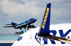 G-FRAS FALCON 20C (douglasbuick) Tags: aircraft dassault falcon 20c gfras cobham aviation jet plane egpk prestwick airport scotland flickr takeoff nikon d40