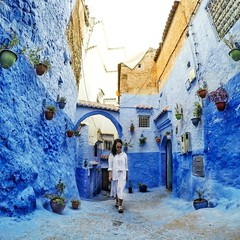 Instagram Photos (Round The World Girl) Tags: ifttt instagram travel morocco chefchaouen chaouen blue